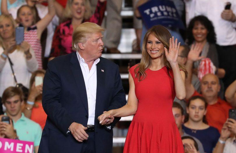 Donald and Melania Trump Florida